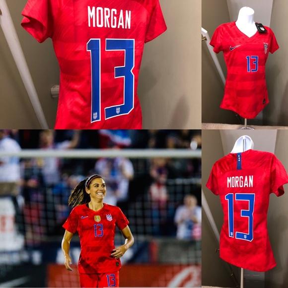 buy online a495d 5e2bd Alex Morgan #13 USA Womens Soccer Jersey World Cup NWT